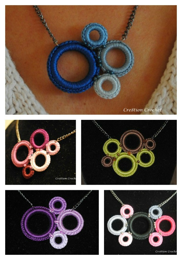 Free Crochet Ring Jewelry Patterns : Crochet Ring Necklace - Cre8tion Crochet