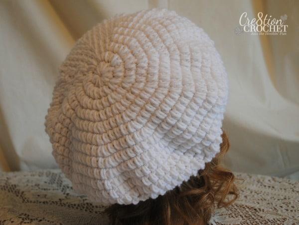 Miranda puff stitch slouch free pattern #cre8tioncrochet