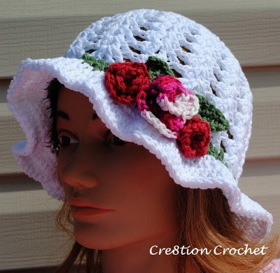 adult spring hat free crochet pattern