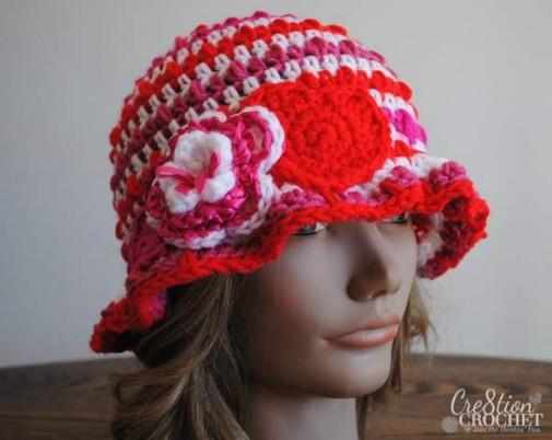 cupids cloche free Valentine's Day crochet pattern