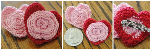 flower in a heart pin free valentines day pattern