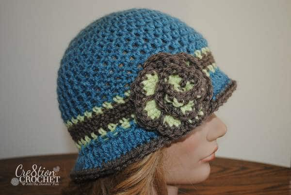 free crochet cloche pattern Beverly in Vanna's Choice #cre8tioncrochet