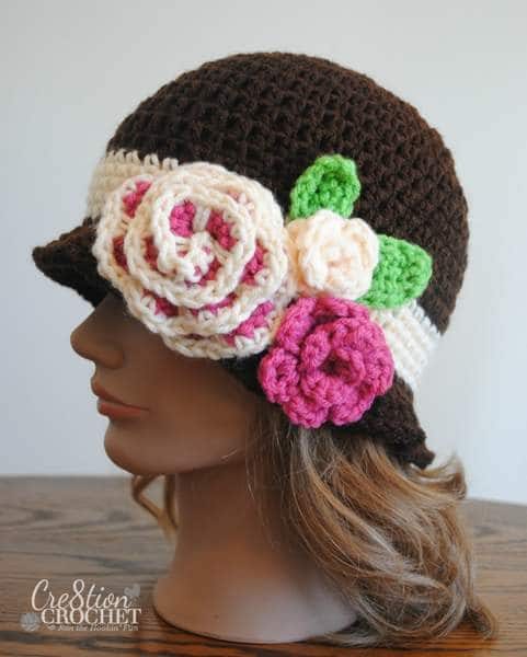 free crochet cloche pattern in Red Heart #cre8tioncrochet