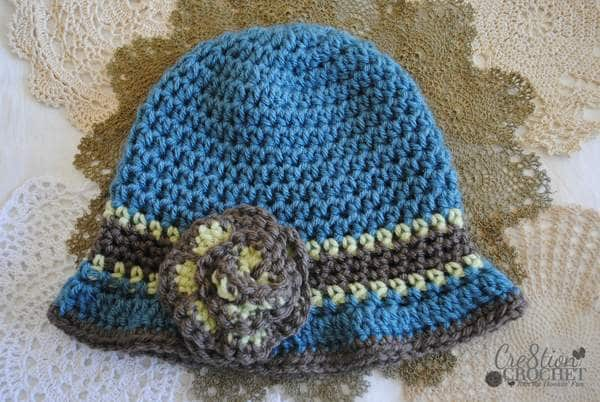 free crochet pattern Beverly's Cloche in Vannas Choice #cre8tioncrochet