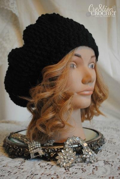 free crochet pattern Miranda puff stitch slouch #cre8tioncrochet