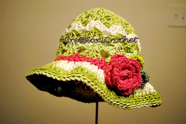 free crochet pattern for toddler spring or summer hat