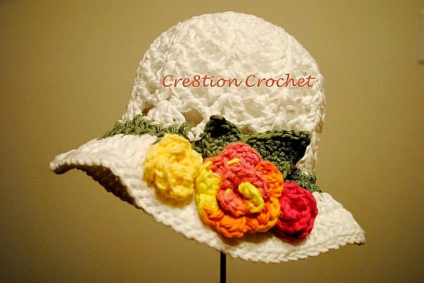free crochet pattern toddler spring hat