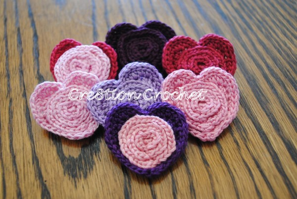 free heart pin pattern crochet