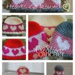 hearts go round hat