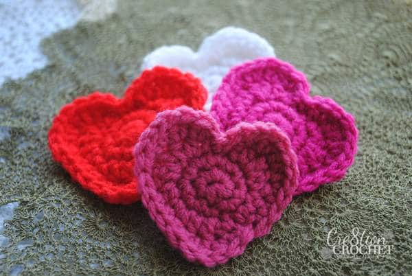 super easy free crochet heart pattern