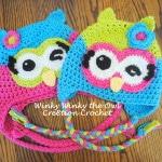 winky winky the owl free crochet owl hat pattern