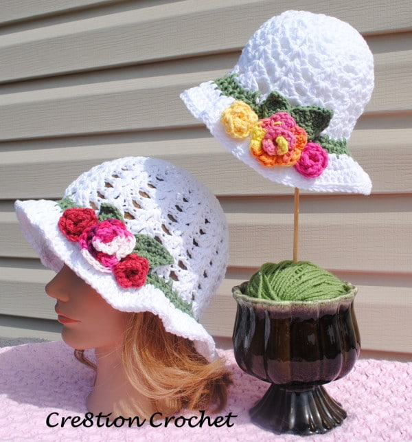 Free Crochet Pattern Easter Hat : Free Crochet Pattern for Adult Spring or Easter Hat