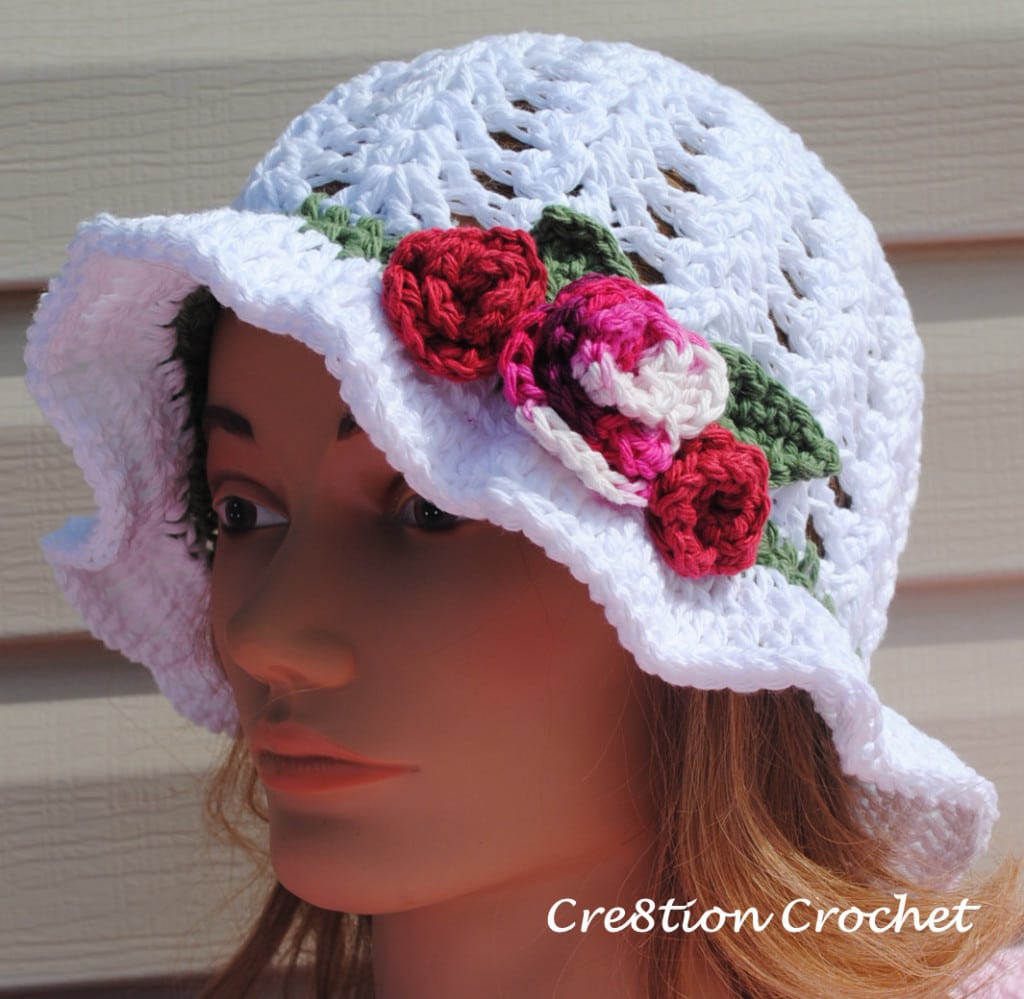 Free Crochet Summer Hat Patterns For Adults : Free Crochet Pattern for Adult Spring or Easter Hat
