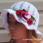 free pattern adult spring hat