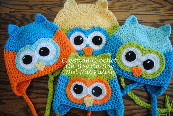 Crochet Hat Patterns Owl Free : oh boy oh boy