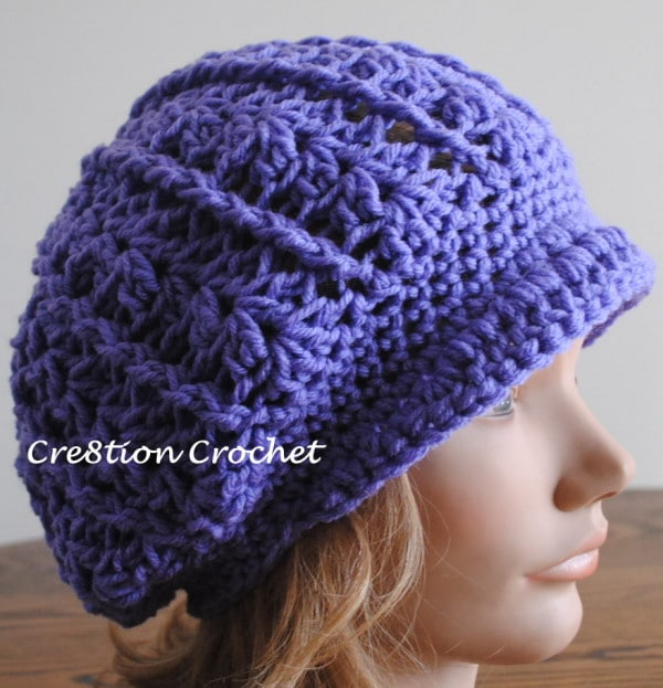 Newsboy Slouch Crochet Hat