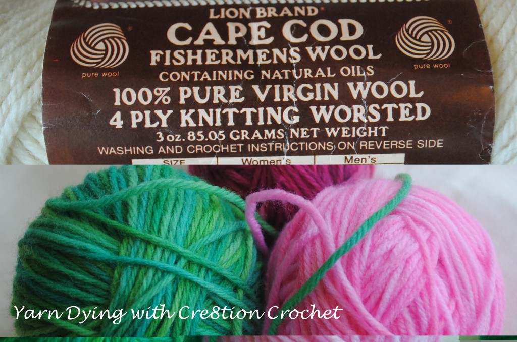 yarn dying with cre8tion crochet