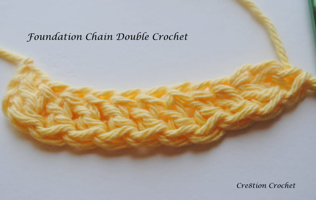 Foundation Chain Double Crochet tutorial