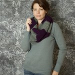 free crochet pattern bulky striped cowl