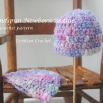 free crochet pattern handspun newborn beanie