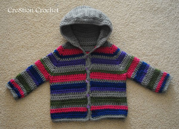 Free Crochet Toddler Boy Sweater Patterns : Toddler Striped Sweater - Cre8tion Crochet