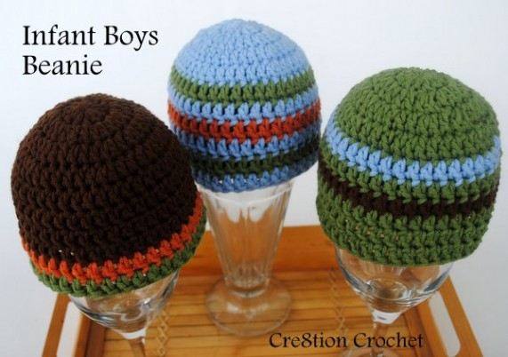infant boys beanie crochet pattern