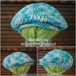 rad rayon dongenel golf cap free crochet pattern from Cre8tion Crochet for Darn Good Yarn