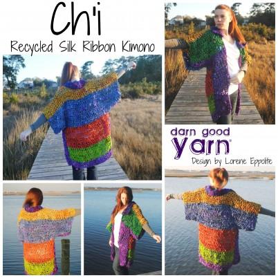 Ch'i Recycled Silk Ribbon Kimono