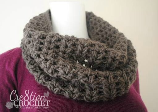 FREE crochet pattern by Cre8tion Crochet-  The Chloe V Puff Stitch Cowl
