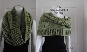 Zola Bulky Stacked Shell Cowl FREE pattern from Cre8tion Crochet