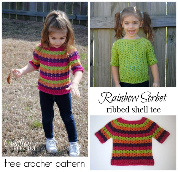 Free Crochet Toddler Tank Top Pattern : Free Crochet Pattern Toddler Ribbed Shell Top - Cre8tion ...