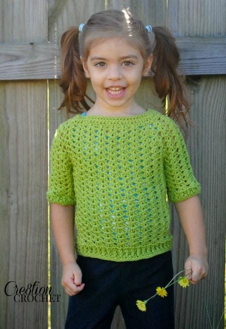 Ribbed Shell Tee FREE crochet pattern