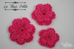 free crochet flower pattern ~la fleur petite~ #cre8tioncrochet