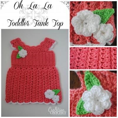 free crochet pattern Oh La La Toddler Tank