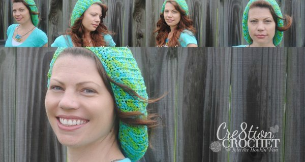 sea breeze summer hat free crochet pattern #cre8tioncrochet