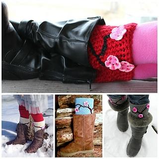 cherry blossom boot cuffs