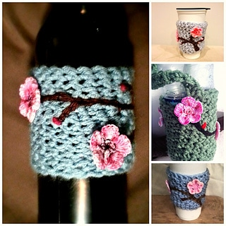 cherry blossom drink sleeve