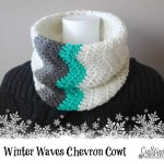 free crochet pattern winter waves chevron cowl #cre8tioncrochet