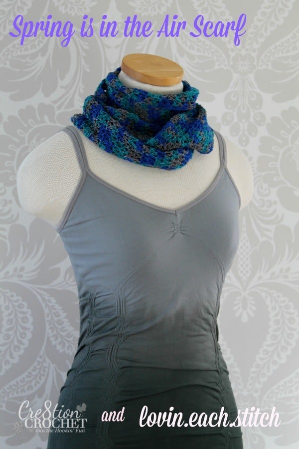 free pattern spring is in the air scarf