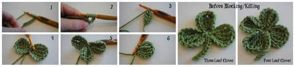steps for luck of the irish st pattys day bunting FREE crochet pattern #cre8tioncrochet
