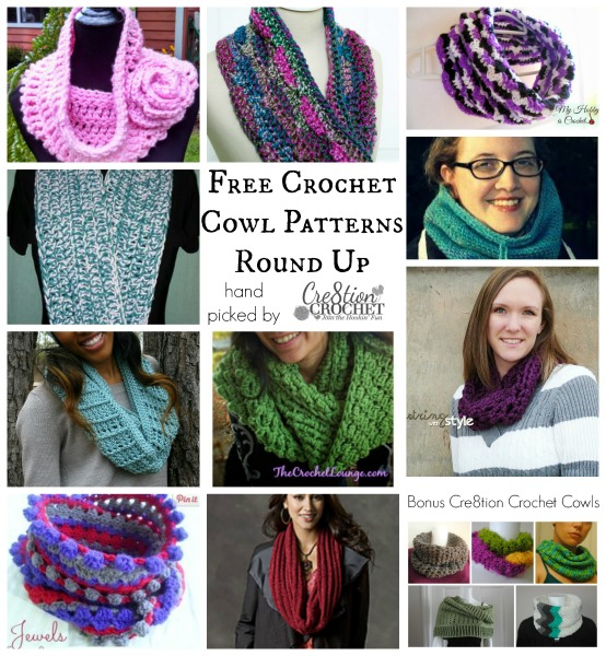 FREE crochet cowl pattern round up~ hand picked by #cre8tioncrochet