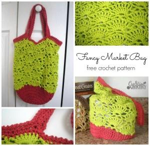 ~Fancy Market Bag~ FREE crochet pattern ~ #cre8tioncrochet