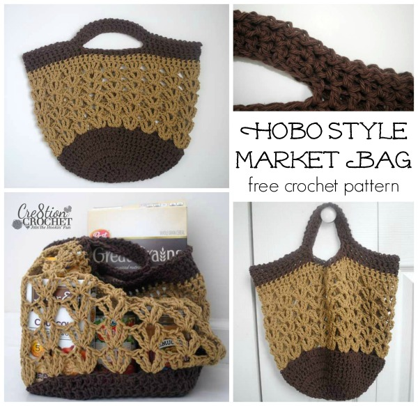 Crochet Bag Free Pattern : Market Bags Two Free Crochet Patterns - Cre8tion Crochet