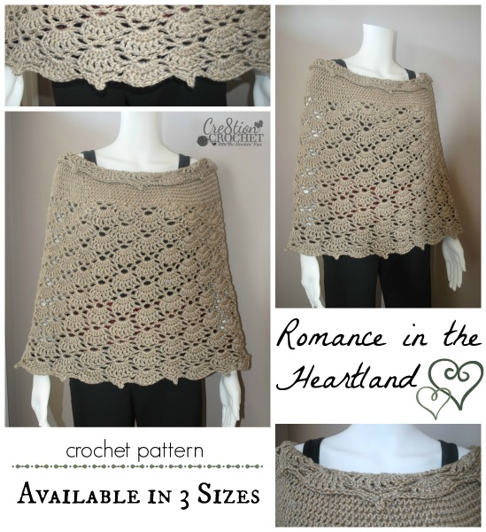 ~Romance in the Heartland~ crohet pattern ~ available in 3 sizes ~ $5 on Ravelry #cre8tioncrochet