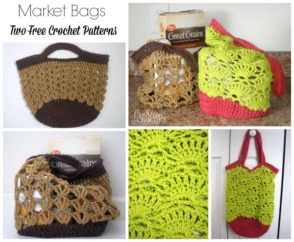 Market Bags Two Free Crochet Patterns - Cre8tion Crochet