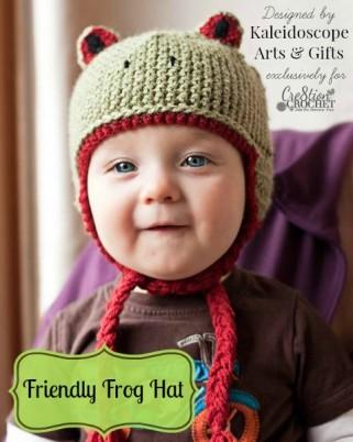friendly frog hat free crochet pattern