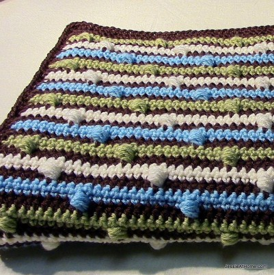 josephs puff stitch blanket Jessie at Home