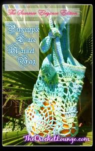 pineapple crochet market bag