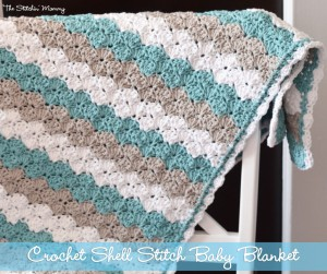 shell stitch blanket The Stitchin Mommy
