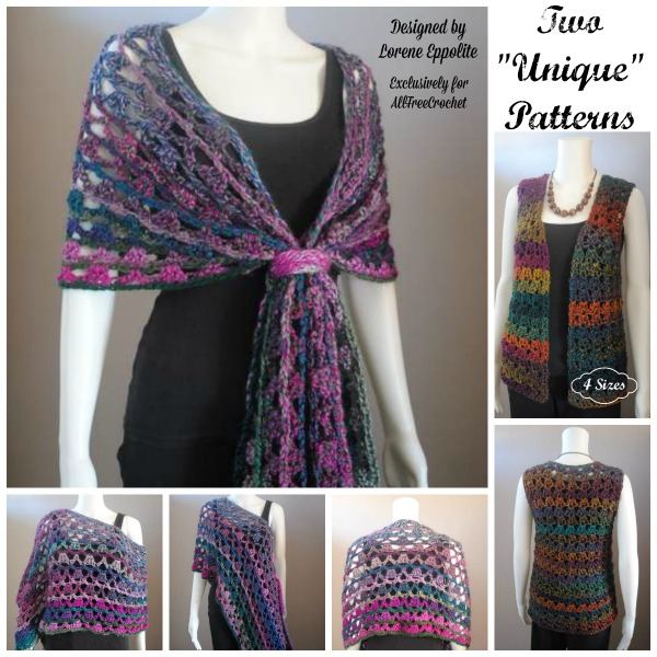 Crochet Patterns Unique : Two Unique Patterns- FREE Crochet Patterns for Multi Wear Lace Wr...